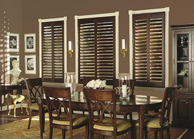 Wooden Plantation Shutters Dining Room