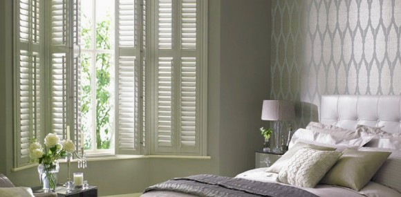 Bay Window Bedroom Shutters
