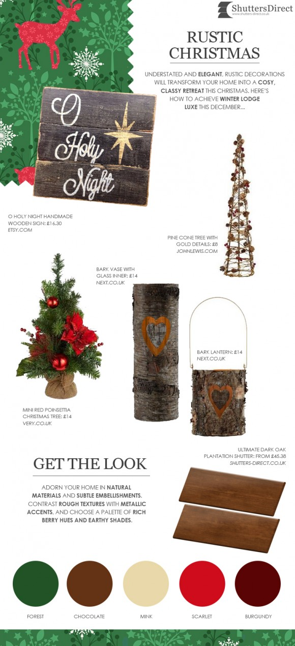 Rustic Christmas Decorations Mood Board