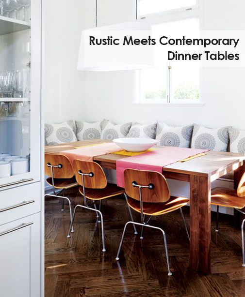 Rustic Meets Contemporary Dinner Tables