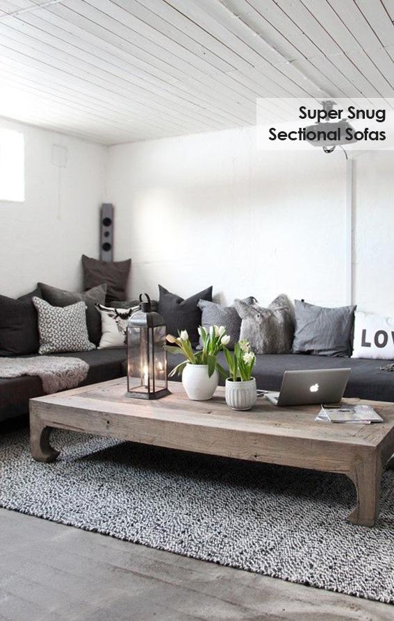 Super snug sectional sofas