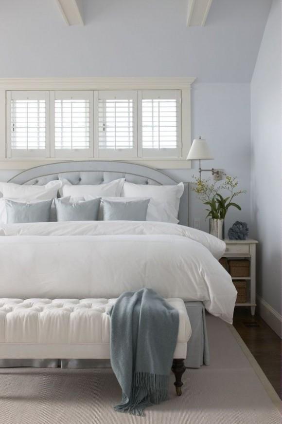 White shutter bedroom